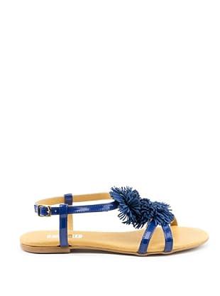 Misu Sandale Pompon (Meerblau)