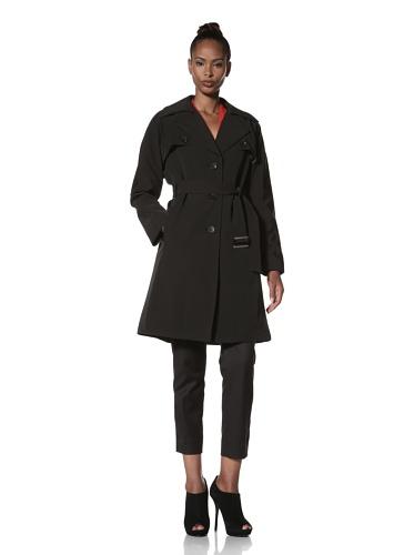 Hilary Radley Women's Trench Coat (Black)