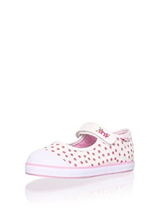Pablosky Kid's Mary Jane Sneaker (White)