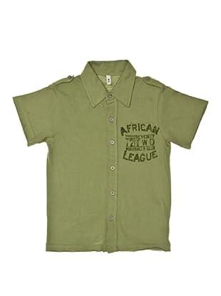 New Caro Camisa Abotonada (Verde)