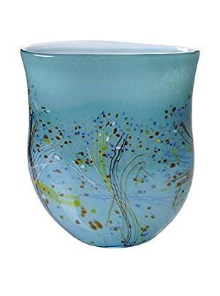 La Meridian Art Glass Vase, Turquoise/Multi