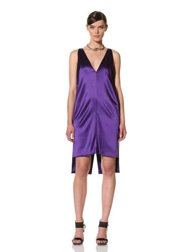 Juan Carlos Obando Women's Plunging Back V Dress (Purple)