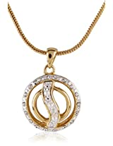 Estelle Gold and Silver Plated Pendant With Crystals and Pearls (670)