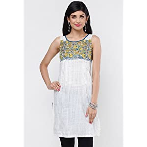 W 12FE13100-54151 Sleeveless Kurta - White