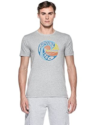 Rip Curl T-Shirt Snow & Water S/S Tee (Grigio cemento)