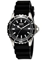 Invicta Men's Quartz Watch with Black Dial Analogue Display and Black Silicone Strap 21562