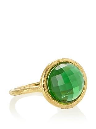 KiraKira Dark Green Quartz Santorini Ring