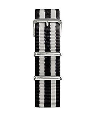 Oxygen Uhrenarmband Nato 20 mm schwarz/weiß