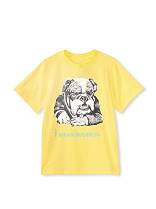 Tom and Drew Boy's I Mean Business Shirt (Lemon Merengue)