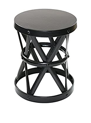 filling spaces Small Finished Side Stool, Black