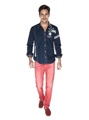 Giorgio Di Mare Camisa Moshe (Azul Marino)