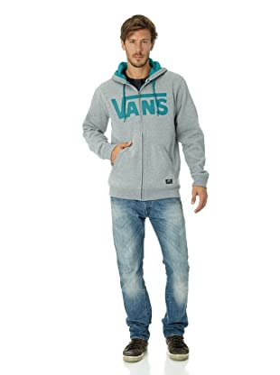 Vans Herren Sweatshirt Classic Zip Hoody (concrete heather/deep lake)