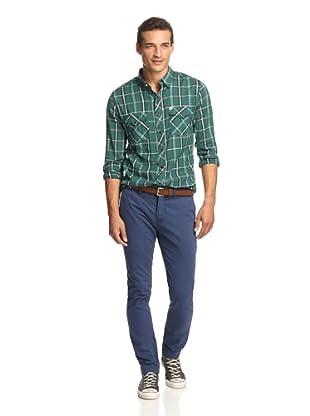 Just a Cheap Shirt Men's A Slim Fit Chino (Heavy Indigo)