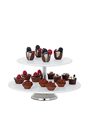 Torre & Tagus 2-Tier Marble Cake Stand