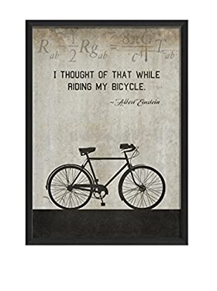 The Artwork Factory Bicycle Einstein On White Framed Art