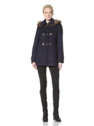 Calvin Klein Women's Bouclé Jacket with Toggle Closure (Indigo)