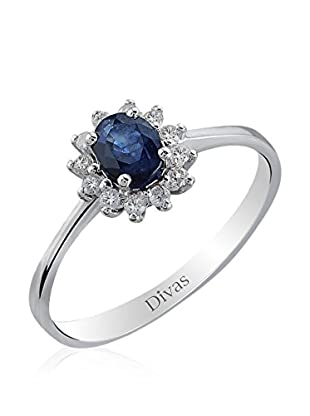 Divas Diamond Anillo Piedra Zafiro (Plata)