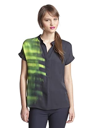 Elie Tahari Women's Hailey Printed Blouse (Scallion (Multi))