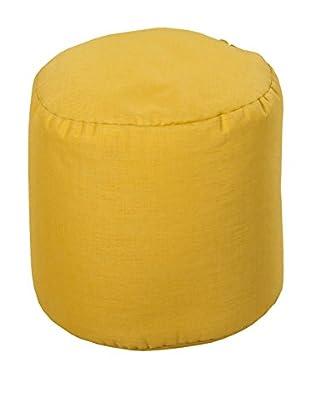 Surya Storm Pouf, Yellow