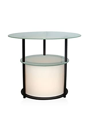 Adesso Marvin Light Table, Black, Oval