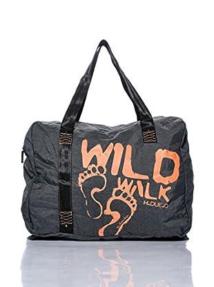 H.Due.O Borsa Wild Walk Grigio/Arancione