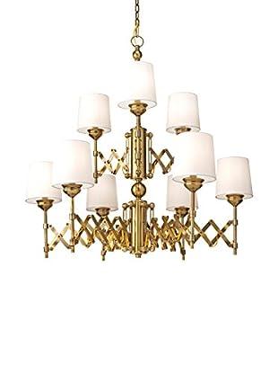 Feiss 9-Light Hugo, Bali Brass
