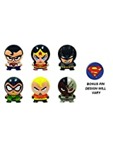 Series 2 Dc Comic Buildable Set Of 6 Figures With Bonus Pin