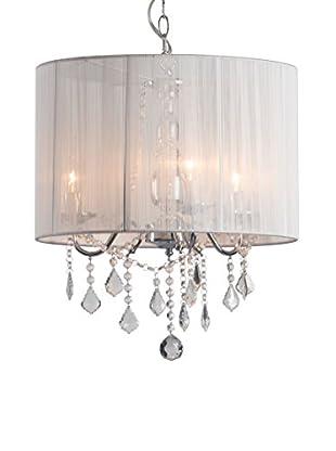 Zuo Shasta Ceiling Lamp, White/Chrome