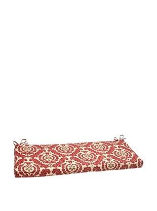 Waverly Sun-n-Shade Meridian Henna Bench Cushion (Red/Brown/Tan)