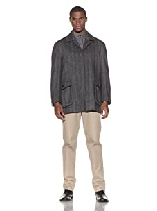 Ibiza Men's Napoli Herringbone Coat (Grey)