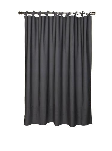 Coyuchi Pin-Tuck Shower Curtain (Gray)