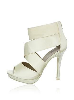 Buffalo Girl 311509A SATIN 132088 - Sandalias fashion de tela  mujer (Beige)