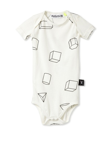 NUNUNU Baby Geometry Bodysuit (White)