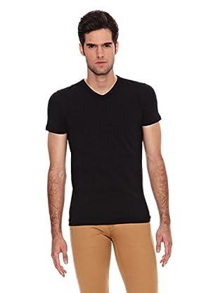 Six Valves Camiseta Manga Corta Flúor (Negro)