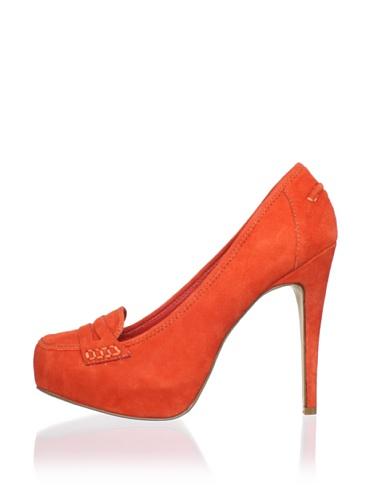 DV by Dolce Vita Women's Bridgette Pump (Orange/Red Suede)