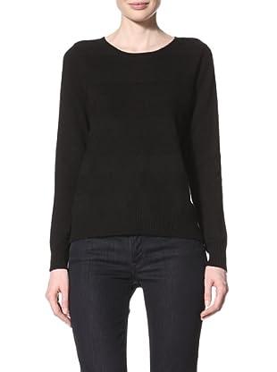 Christopher Fischer Women's Striped Pullover Sweater (Black)