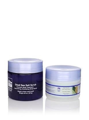 Dead Sea Spa Care Cucumber/Melon Salt Scrub and Cucumber/Melon Shea Body Butter, 2 Pack