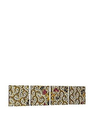 Dekorjinal Set, 4-teilig dekoratives Bild Tas042 (mehrfarbig)