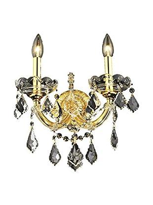 Crystal Lighting Maria Theresa 2-Light Wall Sconce, Gold