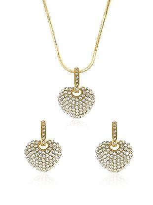 Philippa Gold Set Collier und Ohrringe vergoldetes Metall 24 kt