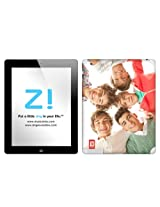 Zing Revolution One Direction Premium Vinyl Adhesive Skin for iPad 2 & iPad 4/3, Group Shot, MS-1D80351