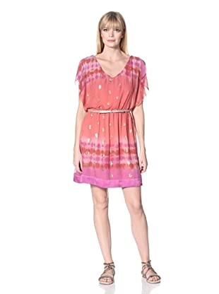 Hale Bob Women's Flutter Sleeve Dress (Rust)