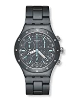 Swatch Black Aluminium Chronograph Men Watch YCM4001AG