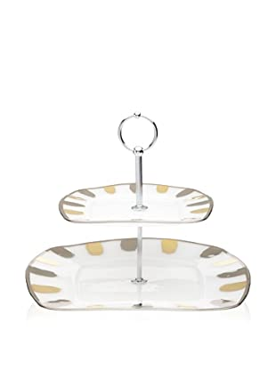 La Villa Collections Glory Two-Tier Plate (White Base)