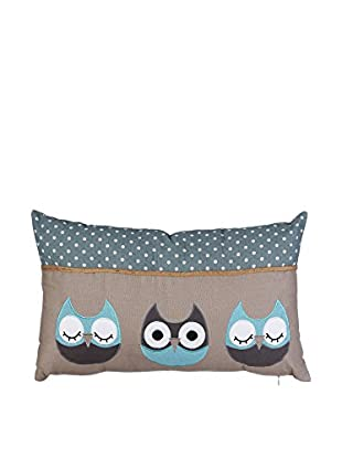 Chateau chic Kissen Owls blau/braun