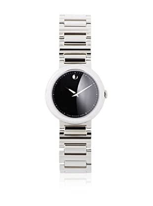 Movado Women's 0606419 Concerto Stainless Steel Black Round Dial Watch