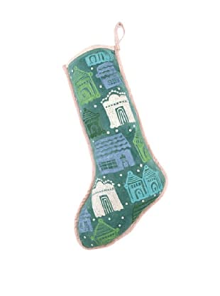 Anna Marie Horner Holiday House Holly Blue Spruce House Stocking