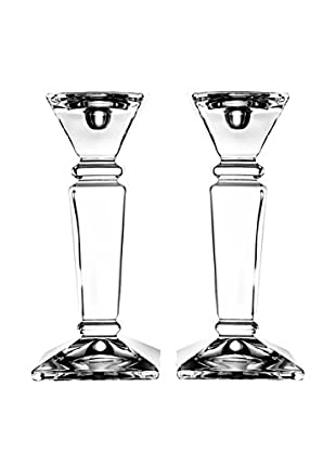 Fitz & Floyd Set of 2 Majestic Crystal Candleholders