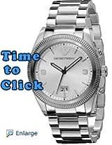 Emporio Armani Men's AR5894 Sport Silver Dial Watch