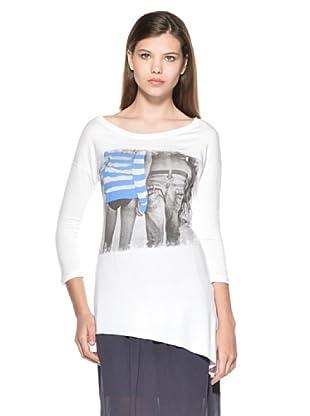 Eccentrica Camiseta Freya (Blanco/Azul)